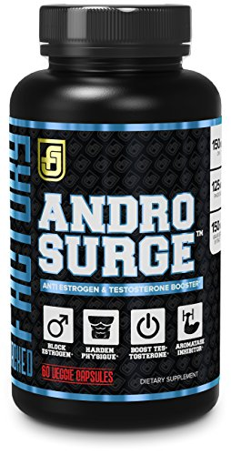 ANDROSURGE Estrogen Blocker for Men - Natural Anti-Estrogen, Testosterone  Booster & Aromatase Inhibitor Supplement - Boost Muscle Growth & Fat Loss -